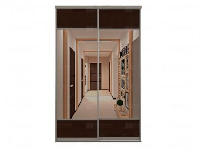 Зеркальные двери для шкафа-купе с вставками ЛДСП Дк 221