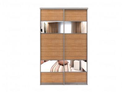 Двери для шкафа-купе с зеркальными вставками Дк 222