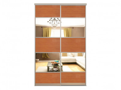 Двери для шкафа-купе с зеркальными вставками Дк 223