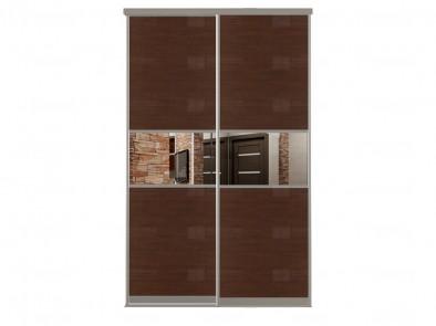 Двери для шкафа-купе с зеркальными вставками Дк 226