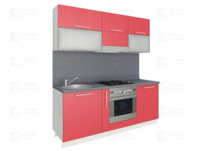 Кухня прямая из пластика Мари 1-1 - дополнительное фото