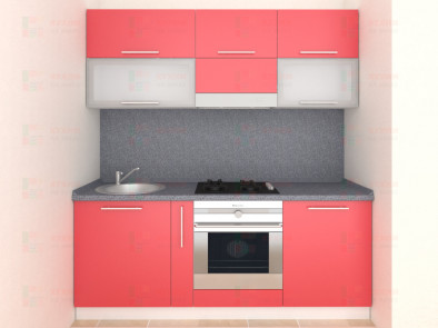 Кухня прямая из пластика Мари 1-1
