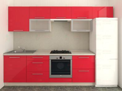 Кухня прямая из пластика Мари 1-11 - дополнительное фото