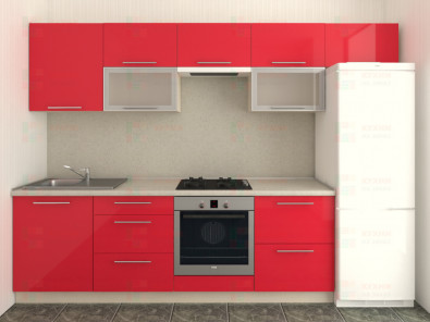 Кухня прямая из пластика Мари 1-11