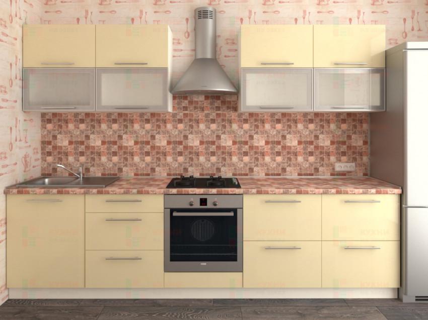 Кухня прямая из пластика Мари 1-13