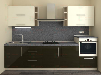 Кухня прямая из пластика Мари 1-15