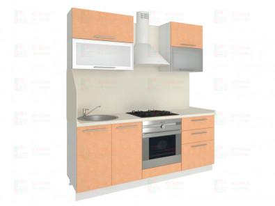 Кухня прямая из пластика Мари 1-2