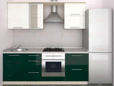 Кухня прямая из пластика Мари 1-3