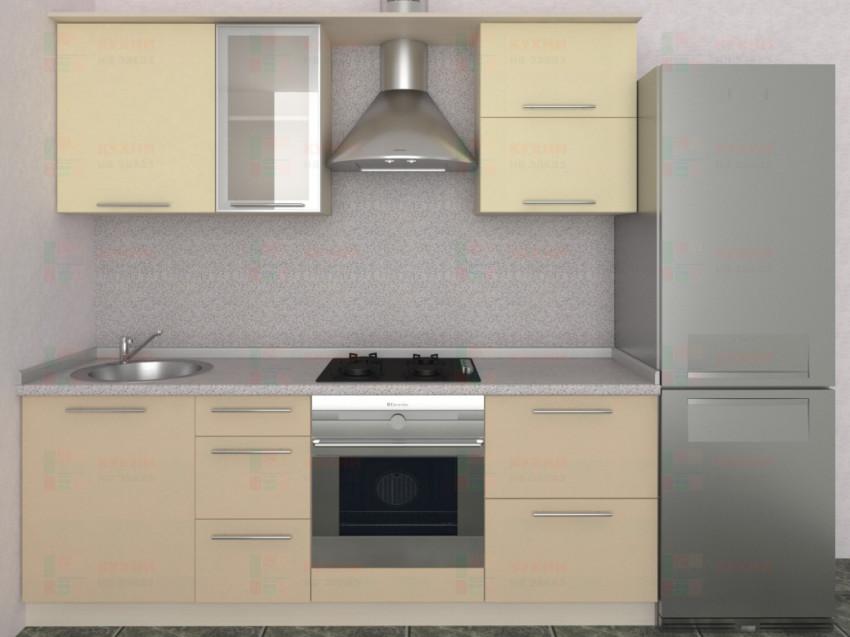 Кухня прямая из пластика Мари 1-4