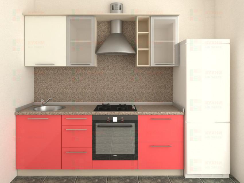 Кухня прямая из пластика Мари 1-5