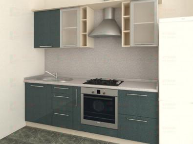 Кухня прямая из пластика Мари 1-6 - дополнительное фото