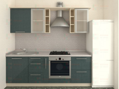 Кухня прямая из пластика Мари 1-6