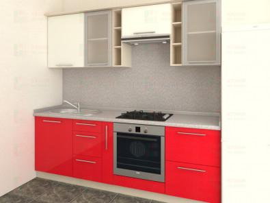 Кухня прямая из пластика Мари 1-7 - дополнительное фото