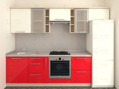 Кухня прямая из пластика Мари 1-7