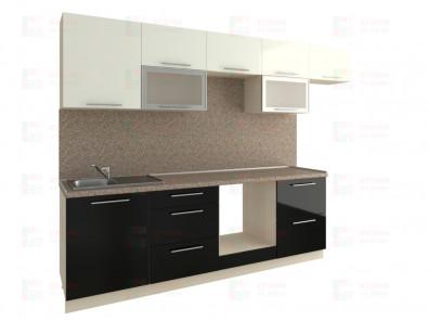 Кухня прямая из пластика Мари 1-8 - дополнительное фото