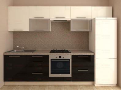 Кухня прямая из пластика Мари 1-8