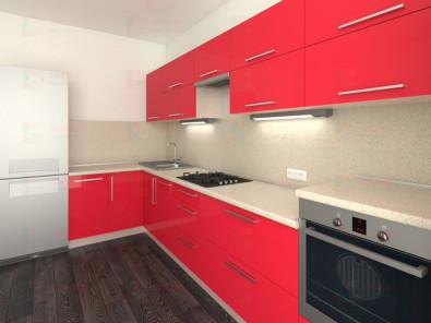 Кухня угловая из пластика Елена 10-1 - дополнительное фото