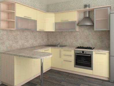 Кухня угловая из пластика Елена 10-10 - дополнительное фото