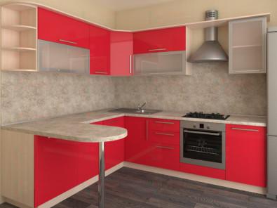 Кухня угловая из пластика Елена 10-11 - дополнительное фото