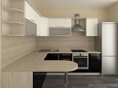 Кухня угловая из пластика Елена 10-12 - дополнительное фото