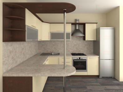 Кухня угловая из пластика Елена 10-13 - дополнительное фото