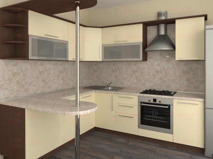 Кухня угловая из пластика Елена 10-13