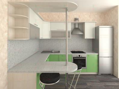 Кухня угловая из пластика Елена 10-14 - дополнительное фото