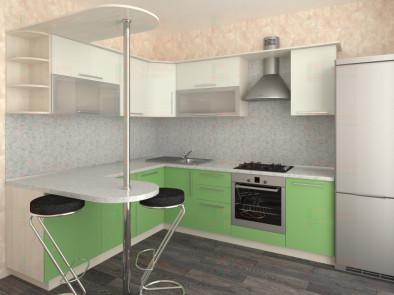 Кухня угловая из пластика Елена 10-14