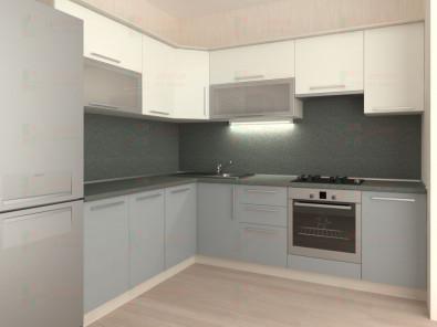 Кухня угловая из пластика Елена 10-15 - дополнительное фото