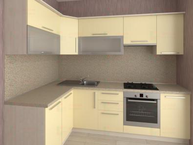 Кухня угловая из пластика Елена 10-16 - дополнительное фото