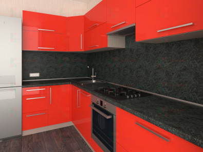Кухня угловая из пластика Елена 10-2 - дополнительное фото