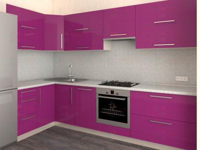 Кухня угловая из пластика Елена 10-3 - дополнительное фото