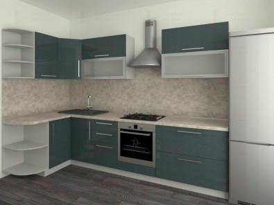 Кухня угловая из пластика Елена 10-4 - дополнительное фото