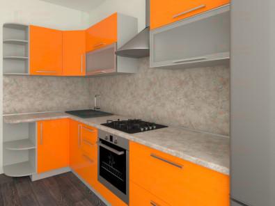 Кухня угловая из пластика Елена 10-5 - дополнительное фото