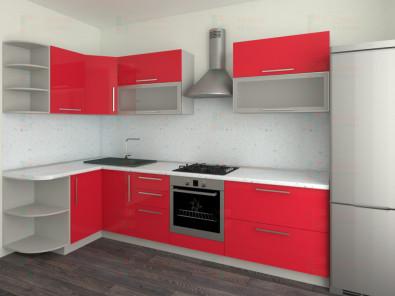Кухня угловая из пластика Елена 10-6 - дополнительное фото