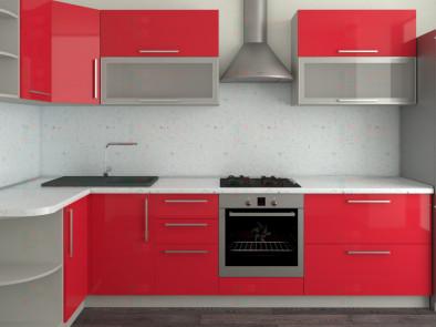 Кухня угловая из пластика Елена 10-6