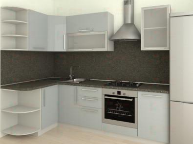 Кухня угловая из пластика Елена 10-7 - дополнительное фото