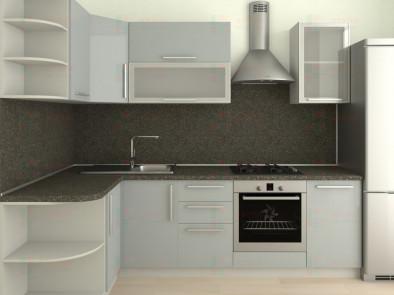 Кухня угловая из пластика Елена 10-7