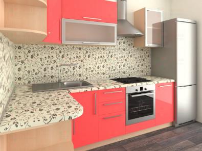 Кухня угловая из пластика Елена 10-8 - дополнительное фото
