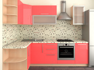 Кухня угловая из пластика Елена 10-8