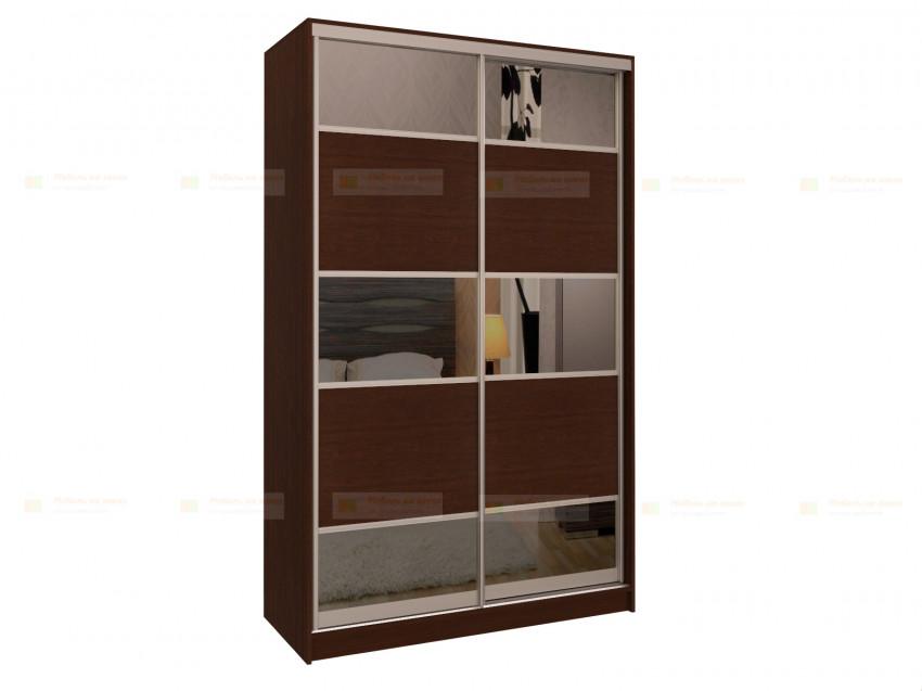 Двери для шкафа-купе с зеркальными вставками Дк 224